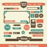 web デザインの要素 — ストックベクタ