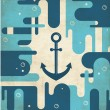 Stock Vector: Nautical anchor - vintage design