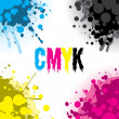 Stock Vector: CMYK Splash Design