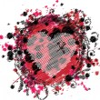 Grungy Emo Heart Design — Vector de stock #28068497