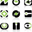Green Icon Set — Stock Vector