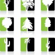 Green Trees Icon set — Stock Vector #28068585
