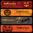 Halloween Banners Design — Vector de stock