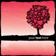 Valentine's Design - Tree With Hearts — Stock Vector