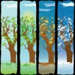 Four Seasons — Vector de stock