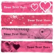 Valentines Banners — Stock Vector #28068789