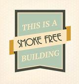 Vintage No Smoking Sign — Stock Vector