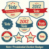 Retro Presidential Election Badges — Stock Vector