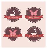 情人节标签-高品质复古设计 — 图库矢量图片
