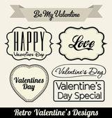 Insignias de amor estilo retro — Vector de stock