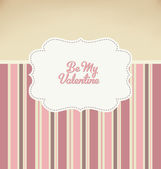Be My Valentine - Vintage Design — Stock Vector