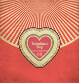 Design de folheto dia dos namorados vintage — Vetorial Stock