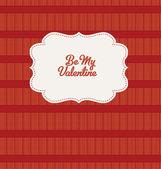 Be My Valentine - Vintage Design — Stock Vector