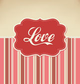 любовь - валентина шаблон оформления — Cтоковый вектор