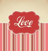 Amor - dia dos namorados modelo de design — Vetor de Stock