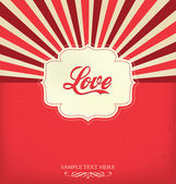 Love - Valentines Design Template — Stock Vector