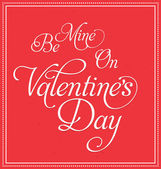 Valentines Day Design — Vector de stock