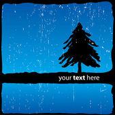 Gece tasarım soyut ağaca — Stok Vektör