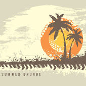 Summer Grunge — Stock Vector