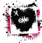 Emo láska — Stock vektor