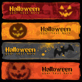 Halloween Banners Design — Stock Vector