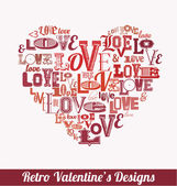バレンタインの日デザイン — ストックベクタ