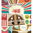 Stock Vector: Retro Scrapbook Design