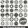 Retro Premium Quality Labels — Stockvektor