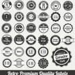 Retro Premium Quality Labels — Stock Vector
