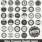 Retro Premium Quality Labels — Stock Vector