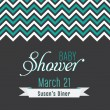 Baby Shower Invitation Layout — Stock Vector