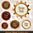 Steampunk Labels Set — Stock Vector