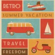 Summer Travel Design — Stockvectorbeeld