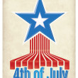 Independence Day - 4th of July Design — Imagen vectorial