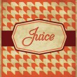 Vintage Juice Label Design — Stock Vector