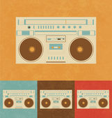 Retro Icons - Boombox — Stock Vector