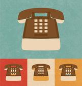 Retro ikony - telefon — Stock vektor