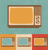 Retro Icons - Small Television Set — Stock Vector