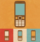 Retro Icons - Mobile Phone — Stock Vector