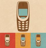 Retro Icons - Mobile Phone — Stock Vector