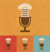 Retro Icons - Microphone — Stock Vector