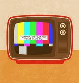 Retro Television Icon — Stock Vector
