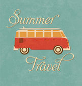 Summer Travel Design - Camper Van — Stock Vector