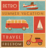 Summer Travel Design — Stok Vektör