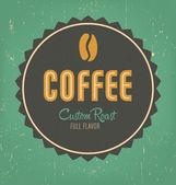 Retro kaffe etikettdesign — Stockvektor