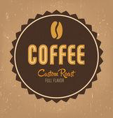 Retro Coffee Label Design — Stock Vector