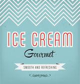 复古冰淇淋的标签设计 — 图库矢量图片
