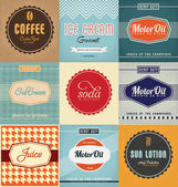 Vintage Label Design Set — Stock Vector