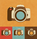 Retro Icons - Camera — Vettoriale Stock