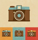 Retro pictogrammen - camera — Stockvector